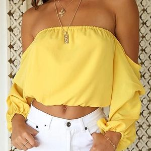 COPY - 🔴🔴  Yellow off shoulder top